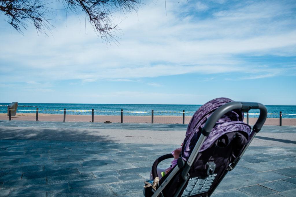 Barcelona  Stan Alarmowy widok na morze